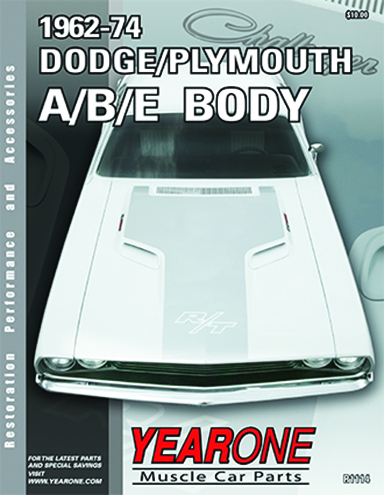 YearOne 1962 to 1974 Dodge/Plymouth A/B/E Body Print Catalog Online